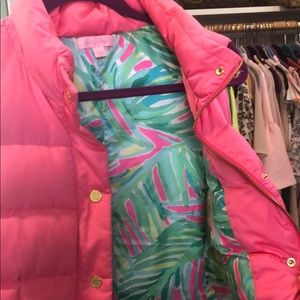 LILLY PULITZER Bright Pink Puffer Vest